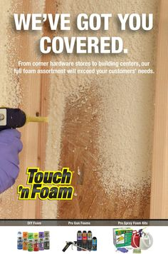 Full line of spray foam products by Pro Gun, Spray Foam, Save Energy, Home Projects, Home Improvement, Touch, Products, Home Improvement Projects, Home Repair