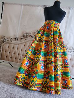 Authentic Ankara Kente Print. 100% cotton. Invisible pockets and matching headscarf African Prom Dresses, Prom Dresses For Sale, Modest Dresses, Pretty Dresses, Max Dresses, Short Dresses, Short Graduation Dresses, Formal Dresses Australia, Winter Formal Dresses