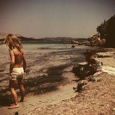 De kids op het strand