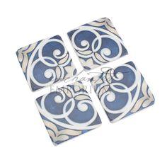 Santorini Blue Coasters Hire, Enchanted Emporium Event Hire Art Series, Santorini, Enchanted, Special Occasion, Coasters, Product Launch, Blue, Accessories, Drink Coasters