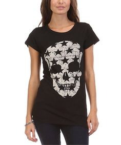 Look what I found on #zulily! Black Star Skull Tee #zulilyfinds