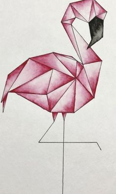Geometric flamingo watercolor Geometric flamingo watercolor The post Geometric flamingo watercolor & Aquarell appeared first on Geometric paint . Cool Art Drawings, Pencil Art Drawings, Art Drawings Sketches, Easy Drawings, Drawing Art, Paris Drawing, How To Draw Flamingo, Flamingo Art, Flamingo Drawings