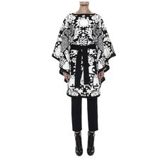 Felted Naive Pagan Jacquard Cape Alexander McQueen | Top | Tops Knitwear | EUR 1.750