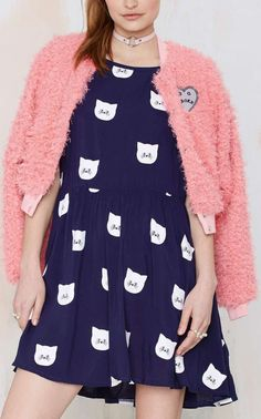 Lazy Oaf Kitty Litter Dress...I need this!!!  So cute!!!