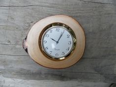 Small desk Rustic log Clock by Coastrangewoodworks on Etsy, $15.00