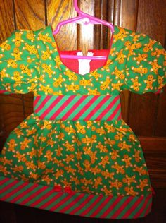 Gingerbread Candy Strip Dress by ChloizzysCloset on Etsy, $25.00
