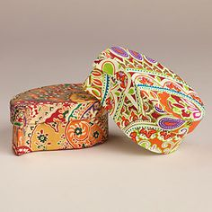 Small Paisley Boxes, Set of 2 | World Market - To store the Wine Lines Reusable Glass Markers!!! Find those here: http://www.worldmarket.com/product/index.jsp?productId=11632580