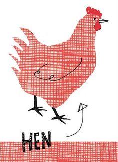 Patterned Hen
