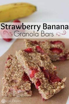 Try this easy strawberry banana granola bars recipe.