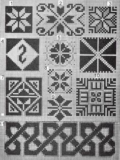 This page has several images of traditional motifs and has the names of the motifs too.