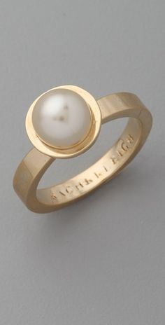 Rachel Leigh Jewelry Society Single Pearl Ring
