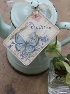 shabby chic wedding tags. Love these labels...  Use a variation of this with QUOTES from books about love, marriage, best friend, etc.