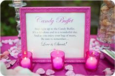 Pink Candy Buffet at wedding