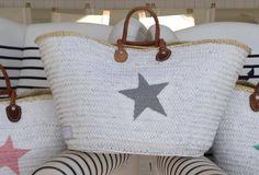 20 Violets Mand wit, grijze ster XL - uitverkocht - - WitZandGrijs wonen, sieraden en mode