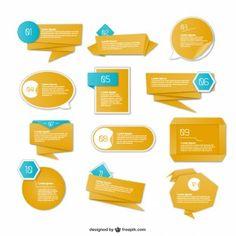 Origami graphics information presentation design