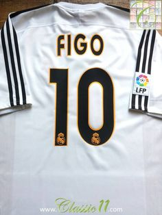 2f2ba0b08 Relive Luis Figo s 2003 2004 La Liga season with this vintage Adidas Real  Madrid home