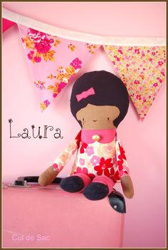 Eco-friendly doll made from upcycled materials!