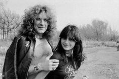 Robert Plant and Audrey Hamilton    1977 Tumblr
