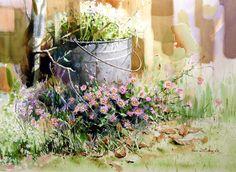 Watercolor Flowers, Watercolor Art, South Korea, Plants, Watercolour, Watercolor Painting, Floral Watercolor, Korea, Plant