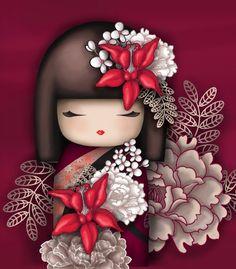 The Modern GEISHA ✿ :: Kokeshi Doll Illustration - tattoo inspiration Momiji Doll, Kokeshi Dolls, Matryoshka Doll, Kokeshi Tattoo, Decoupage, Asian Doll, Thinking Day, Copics, Cute Illustration