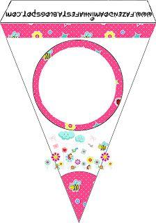 Jardim Encantado Rosa - Kit Completo com molduras para convites, rótulos para guloseimas, lembrancinhas e imagens!