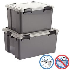 Iris Store-It-All Trunk with Wheels | Organizations Container store and Organizing  sc 1 st  Pinterest & Iris Store-It-All Trunk with Wheels | Organizations Container store ...