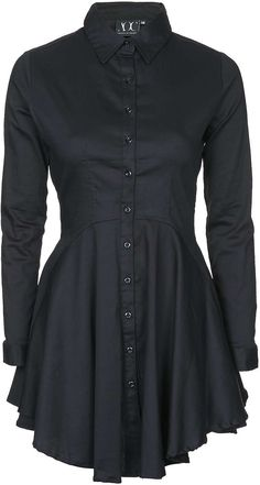 Womens black shirt dress from Topshop - £65 at ClothingByColour.com
