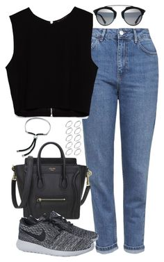 """Untitled #4753"" by eleanorsclosettt ❤ liked on Polyvore featuring Topshop, Zara, NIKE, ASOS and Monica Vinader"