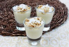 Upside Down Coconut Cream Pies  by EMMA  http://foodcomablog.com/2012/05/upside-down-coconut-cream-pies/