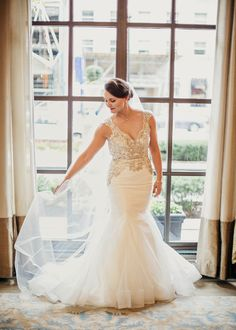 Wedding gown by Hayley Paige / Dresses Our Brides Have Worn - The New York Times