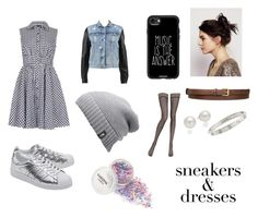 """""""Untitled #78"""" by xolafkax on Polyvore featuring Izabel London, rag & bone, adidas Originals, Casetify, The North Face, STELLA McCARTNEY, Free People, La Perla, AK Anne Klein and Cartier"""