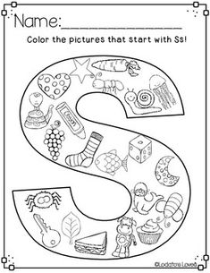 Building our Letter Recognition: All About the Letter S Letter S Activities, Letter S Worksheets, Jolly Phonics Activities, Teaching Phonics, Preschool Worksheets, Alphabet Coloring Pages, Alphabet Book, Alphabet Games, Spanish Alphabet