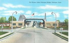 In the time where we had tolls on the East Dubuque Bridge.
