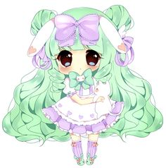 Chibi Commission for Meruuka ©Artwork-myaoh ©Characters-Meruuka Terms Of Service Commission