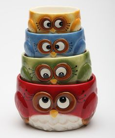 Loving this Owl Measuring Cup - Set of Four on #zulily! #zulilyfinds