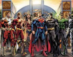 Justice League: Shazam Flash Wonder Woman Superman Batman Green Lantern & - Womens Batman - Ideas of Womens Batman - Justice League: Shazam Flash Wonder Woman Superman Batman Green Lantern & Cyborg by Jim Lee(? Dc Comics Superheroes, Arte Dc Comics, Dc Comics Characters, Cyborg Dc Comics, Gotham Comics, Dc Heroes, Comic Book Heroes, Comic Books Art, Comic Art