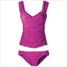 Shop 39 Figure Flattering Swimsuits - Badgley Mischka Swimwear. Soft tummy. Wow, what a great color and cut!. I think this piece would look great on anyone.
