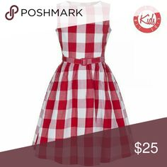 Nwt red gingham picnic dress Super cute vintage inspired picnic dress. Girls size 9/10 years. New with tags. Belt included lindy bop Dresses