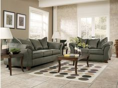 Wall Color For Sage Green Couch Sage Fabric Casual Modern Living - Marjen furniture