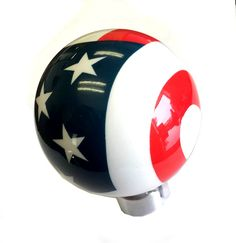 American Shifter 196781 Red Retro Metal Flake Shift Knob with M16 x 1.5 Insert Yellow Fish and a Hook