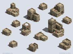 Minecraft Tips, Minecraft Designs, Isometric Map, Hill City, Minecraft Construction, Clay Houses, Game Concept Art, Environment Concept Art, Fantasy Inspiration