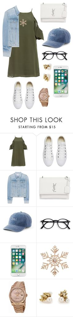"""Untitled #24"" by nahed-slim ❤ liked on Polyvore featuring DailyLook, Converse, rag & bone, Yves Saint Laurent, SO, John Lewis, Rolex and Ruth Tomlinson"
