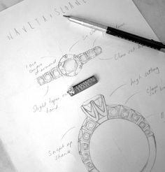 If you are really unsure on which design to choose for your partner, you can propose with the Original Setting and then design the ring together. It is an amazing experience to go through as a team and something you will remember for a lifetime Naveya And Sloane, Dream Engagement Rings, Above And Beyond, Compass Tattoo, Design Process, Precious Metals, Bespoke, Fine Jewelry, Jewelry Design
