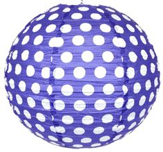 "20"" Paper Lantern Twilight Polka Dot"