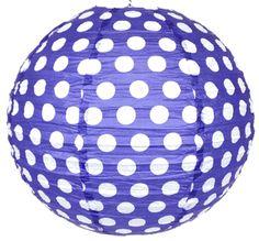 "20"" Paper Lantern Twilight Polka Dot"