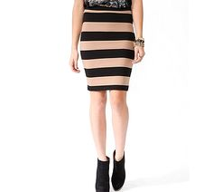 5 chic pencil skirts for every budget and belly size at wellroundedny.com // Forever 21 shown here