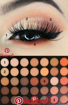 Ideas For Eye Shadow Tutorial Morphe 350 - Make up Tips - Eye Makeup Light Eye Makeup, Makeup Eye Looks, Eye Makeup Steps, Simple Eye Makeup, Natural Makeup, Simple Eyeshadow Looks, Neutral Eye Makeup, Elegant Makeup, Glamorous Makeup