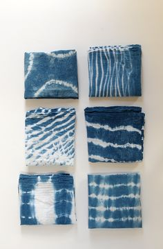 Continuing our Shibori Indigo Dye Series today. We are sharing a few more Shibori techniques that we used to make into beautiful pillow covers!