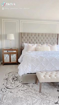 Bedroom Decor For Small Rooms, Grey Bedroom Decor, Bedroom Wall Designs, Small Master Bedroom, Home Room Design, Room Ideas Bedroom, Master Bedroom Design, Home Bedroom, Master Bedrooms