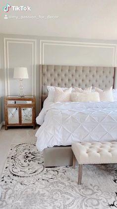 Master Bedroom Interior, Room Design Bedroom, Master Bedroom Makeover, Bedroom Decor For Small Rooms, Room Ideas Bedroom, Home Room Design, Home Decor Bedroom, Living Room Decor, Light Master Bedroom